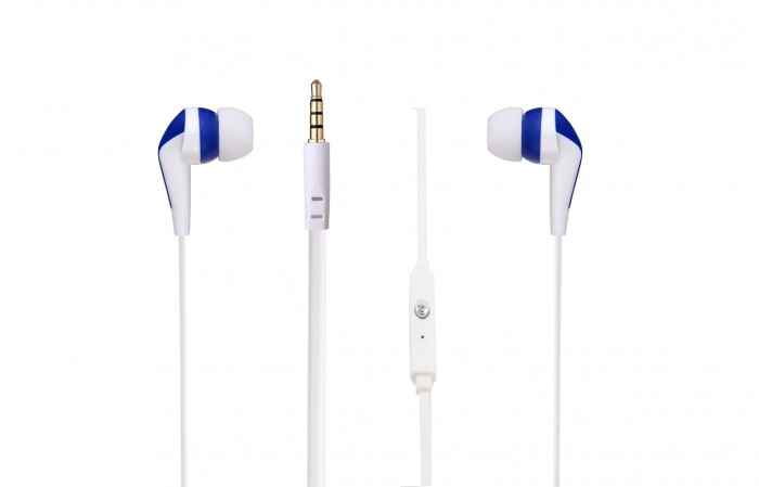 Amplify Слушалки Walk the Talk- In-earphones with mic White & blue AM1101/WB