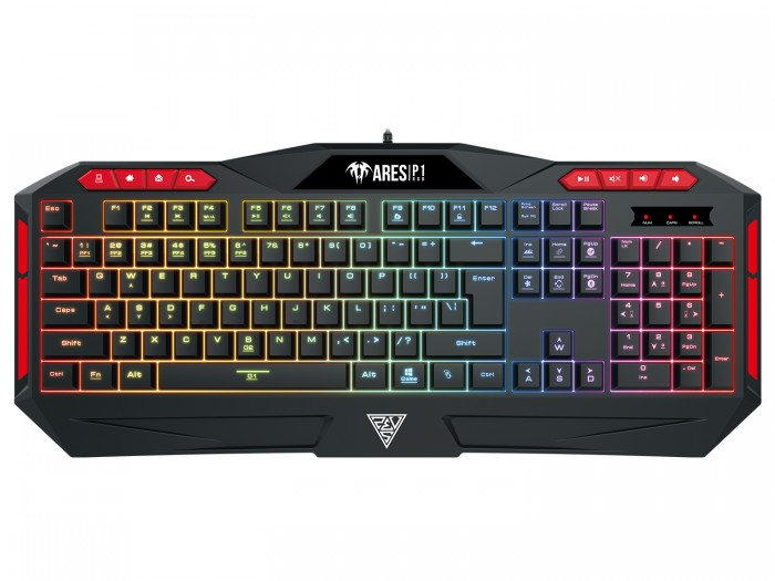 Gamdias геймърска клавиатура Gaming Keyboard 112 keys - ARES P1 RGB