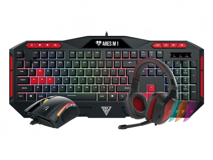 Gamdias геймърски комплект Gaming COMBO - POSEIDON M1 COMBO - Keyboard + Mouse + Headphones