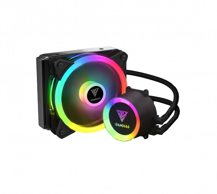 Gamdias водно охлаждане Water Cooling 120mm - CHIONE E2-120 LITE - aRGB