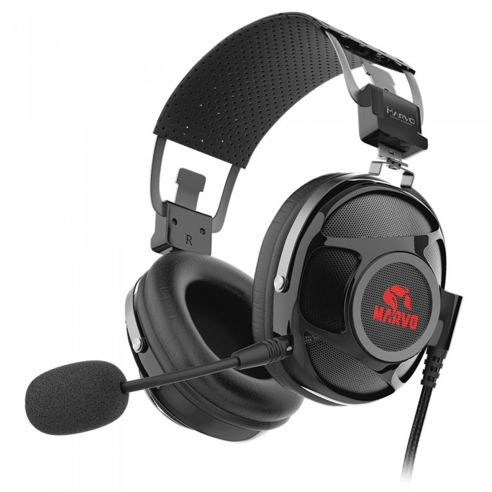 Marvo PRO геймърски слушалки Gaming Headphones HG9053 - 7.1 USB, backlight - MARVO-PRO-HG9053